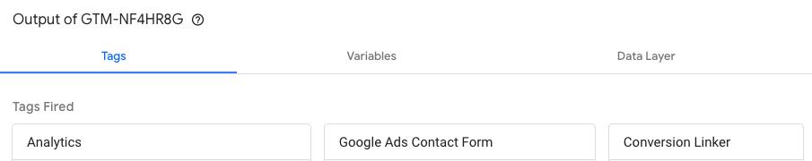 Google Tag Assistant: etichetele activate